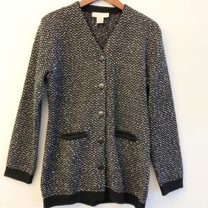 DONCASTER Soft Wool Blend Knit Jacket SZ M